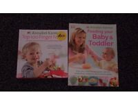 2 x Annabel Karmel baby and toddler recipe books £3