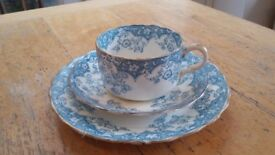 Vintage cup saucer and plate