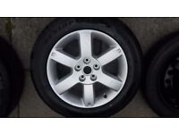 NISSAN X TRAIL ALLOY WHEEL AND TYRE 8MM