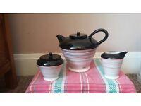 Tea set, unwanted gift - used once Tea Pot, Sugar bowl and milk jug, lovely modern design