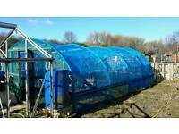 Allotment polly tunnel netting tunnel growing room