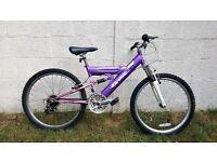 "Girls 24"" Purple Mountain Bike"