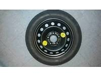 """Bmw 1series bmw space saver whell with new continental tyre 16"""""""