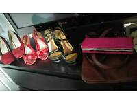 Size 5 ladies shoes and 2 bags