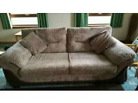 3 and 2 Brown Seater Sofas for Sale