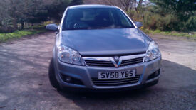 Vauxhall Astra 1.4i 16v Breeze Plus 5dr 2008 silver 68,300 miles