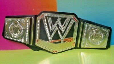 WWE World Heavyweight Championship Scratch Logo Title Belt Kids Size Replica WWF for sale  Shipping to India