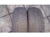 2 tyres 175/65/15 5mm