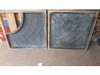 X2 600x600 cobble stone slab moulds paving concrete flags tiles