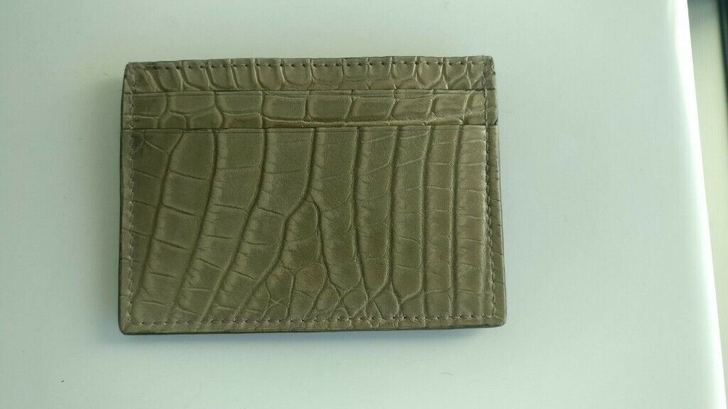 ccc039e16bc GUCCI Crocodile   Alligator Card Case Wallet