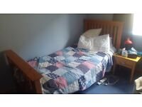Single Bed - Wooden Frame - With Mattress And 2 Drawers