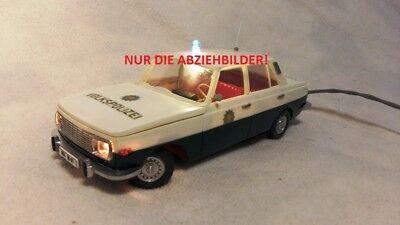 ++ Schiebebilder für Wartburg DDR Spielzeug Fernlenkauto Volkspolizei ANKER  ++
