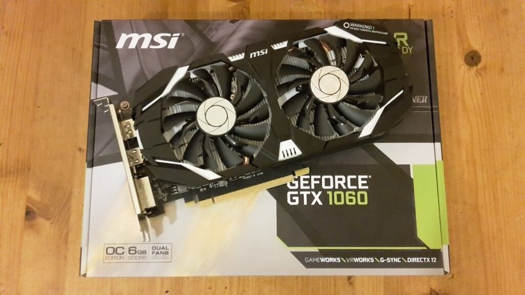 MSI GTX 1060 6GB OCV1 graphics card (Nvidia) - factory overclocked -  excellent condition | in St George, Bristol | Gumtree