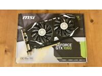 MSI GTX 1060 6GB OCV1 graphics card (Nvidia) - factory overclocked - excellent condition
