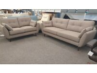 New Zinc 4 + 2 Seater Beige Fabric Sofas Can Deliver