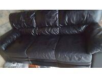 Black Sofa Leather good condition