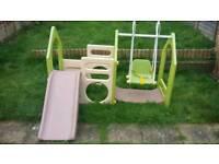 Kids swing and slide