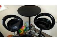 Bar table and 2 bar stools.
