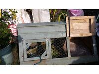rabbit/small animal pet hutch with run