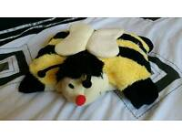 Bumblebee snuggle soft teddy pillow kid