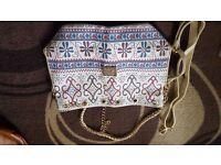 White Patterned Handbag
