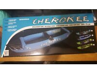 CHEROKEE INFLATABLE CANOE BRAND NEW BOXED