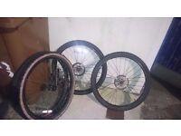 Bike disck whells and tires