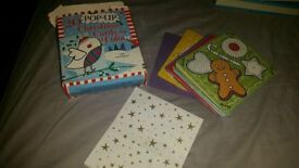 Brand New 20 Pop up Christmas cards to colour