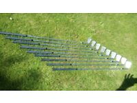 Bob Charles Left handed Golf irons in v good condition