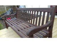 Vintage teak garden bench
