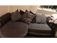 Dfs black and sliver sofa