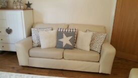 SOFA 3 SEATER IKEA cream