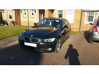 Black BMW 320D couple 2008 Manual.