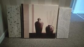 4 , very good quality wall canvasses.