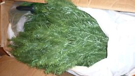 Artificial Douglas Fir Christmas tree - 7ft tall - very good quality and condition