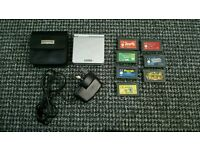 Silver gameboy sp with 7 games