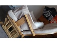 Mothercare rocking chair and foot stool