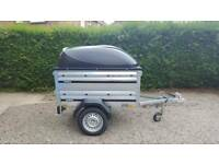 Brenderup 1150s New Car trailer +extension sides +ABS lid.
