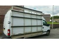 Side and roof racking for window fitters van