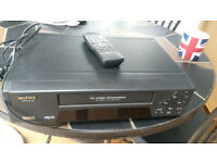 Matsui VX1106 VHS VCR Video Recorder Player PAL UK PLUG and remote