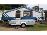 Folding Camper. With cooker. Sink. Plugs. 2 double beds