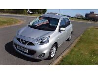 NISSAN MICRA 1.2 ACENTA AUTO,2015,DEMO+1 LADY OWNER,2,300mls,Alloys,Sat Nav,Cruise,Air Con,Like New