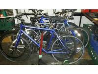 JOB LOT BIKES, ,ALL NEED WORK, ,,CARRERA GRYPHON ROAD BIKE, DAWES EGDE TORA FORKS ,,