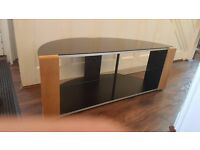 curved TV cabinet
