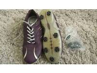ladies ECCO leather golf shoes size 6