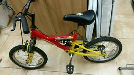 """Kids bicycle 17"""" frame 15 """" tyres in excellent condition"""