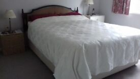 5 foot Divan bed base with two drawers and separate headboard.
