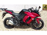 Kawasaki Z1000SX ABS 2015 in red; excellent condition