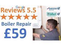 5.0 Google Reviews/Boiler Repair£59,Service£59/Boiler Supply&Installation £999/Gas Certificate£59