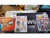 wii + wii balance board + games